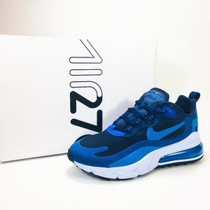 Nike Air Max 270 React Sneakers Mens Blue Void NEW